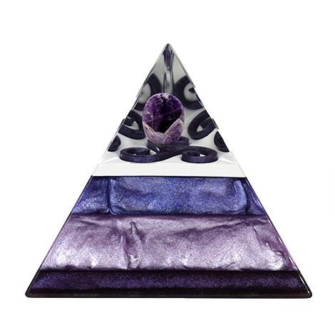 ametist orgonit piramida, 3 stranska piramida, trgovina s kristali