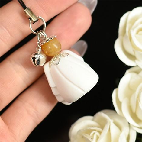 angel guardian pendant, citrine cyrstal, crystal shop, key pendant, phone pendant