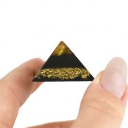 Kristal tigrovo oko, orgonit, piramida