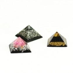 pocket orgontie, rose quartz, tigers eye, hematite