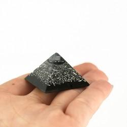 orgonit žepna piramida s kristalom hematit, trgovina s kristlai, ročno delo