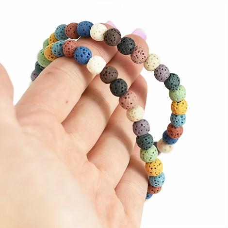lava stones, energy bracelet, 6mm bracelet