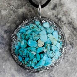 turkiz orgonit ogrlica, zaščita pred sevanjem, trgovina s kristali, 5g