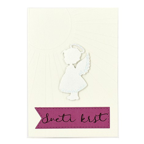 UNIQUE HANDMADE GREETING CARD baptism, communion and confirmation