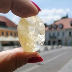 citrin žepni kristal, citrin kamen, trgovina s kristali