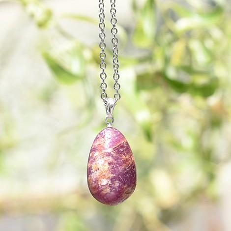 obesek za ogrlico, kristal rubin, trgovina s kristali