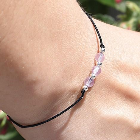 rose quartz crystal, friendship bracelet, crystal shop