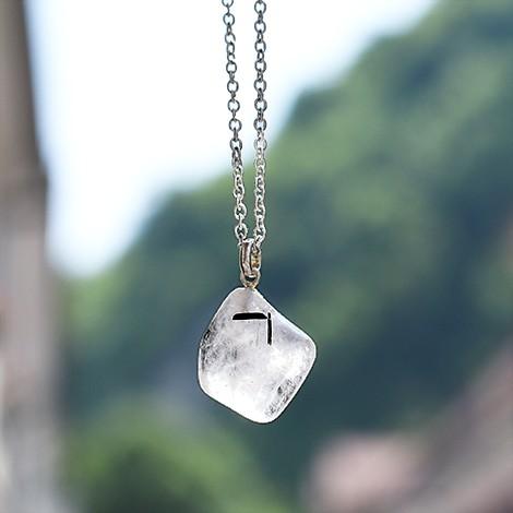tourmaline quartz necklace pendant, crystal shop, energy necklace