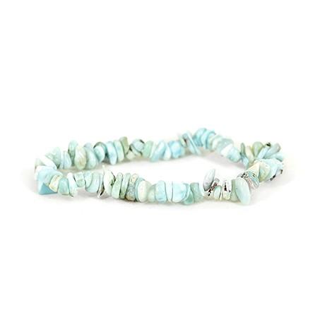 larimare chips bracelet, crystal larimare, energy bracelet