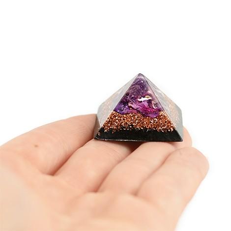 amethyst and shungite orgonit pyramid, crystal shop