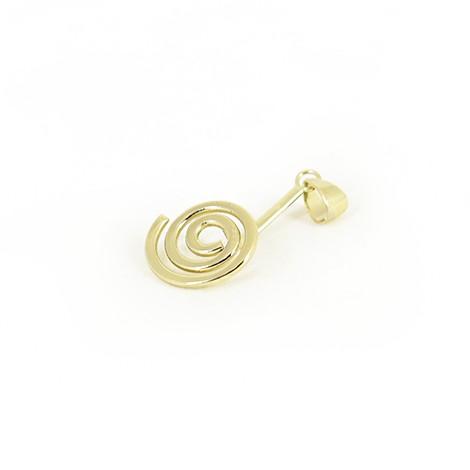 držalo za obesek, spirala zlate barve, trgovina s kristali