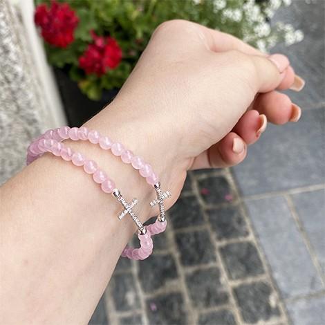 rose quartz, unique jewelrly, hand made jewelrly, energy bracelet
