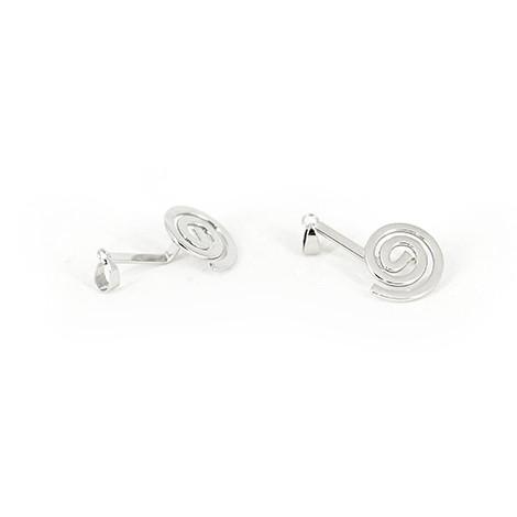 pendant holder, spiral, silver pendant