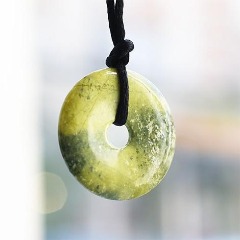 serpentin okrogli obesek za ogrlico, trgovina s kristali