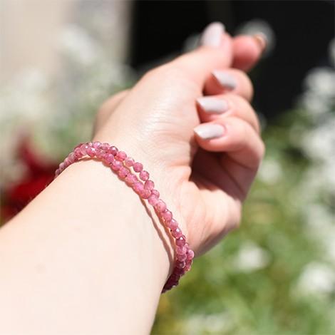 rubellite crystal, energy bracelet, crystal shop