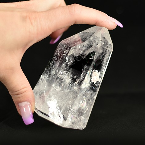 clear quartz, polished raw point, protection stone, crystal shop, bigger crystals