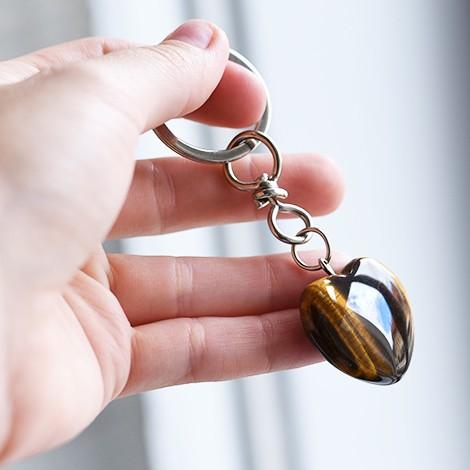 tiger's eye, keychain, safe drive, crystal shop