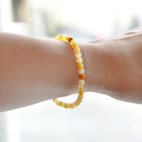 YELLOW OPAL crystal bracelet, 6mm bracelet, crystal shop, energy jewelry