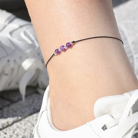 amethyst crystal, crystal shop, ankle bracelet