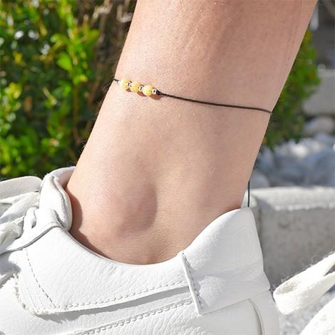 citrine ankle bracelet, crystal shop, citrine crystal