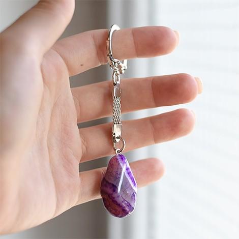 purple agate crystal, energy crystal pendant, crystal shop