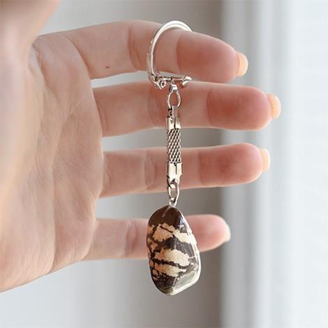 zebra jasper crystal, energy crystal pendant, crystal shop
