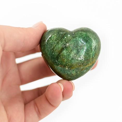 zeleni aventurin kristal, kristalni srček, trgovina s kristali