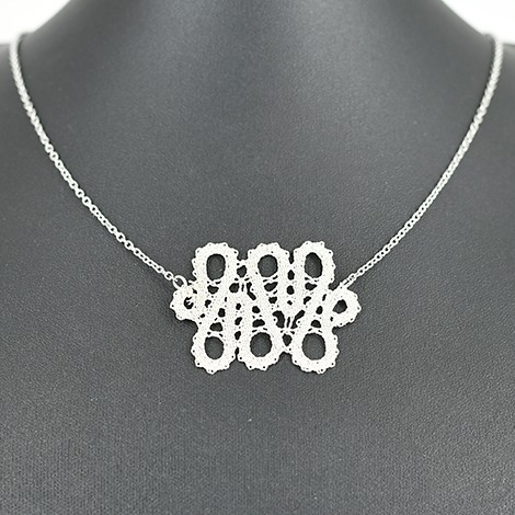 lace necklace, handmade in slovenia