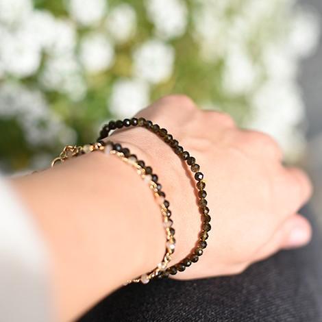 kristal zlati obsidian, energijski nakit, falsetna zapestnica