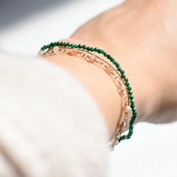 malachite crystal hand made energy bracelet, crystal shop