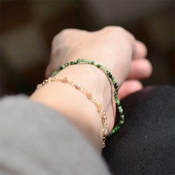zoisit crystal, hand made energy bracelet, crystal shop