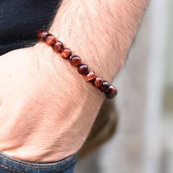 red tiger's eye crystal bracelet, crystal shop