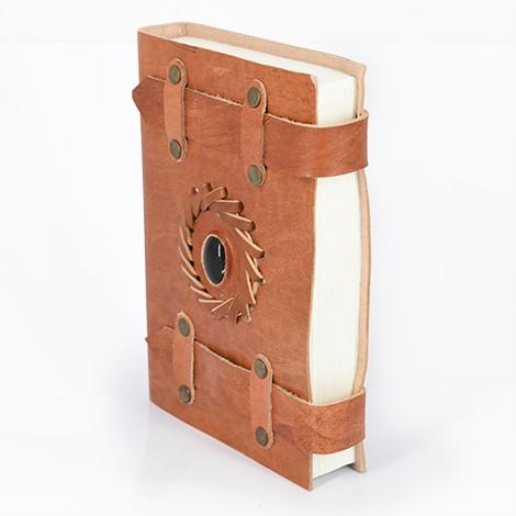 leather notebook, onix gemstone