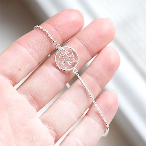 silver bracelet, dream cathcer, unique bracelet