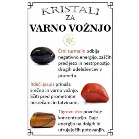 kristali za varno vožnjo, črni turmalin, rdeči jaspis, tigrovo oko, trgovina s kristali