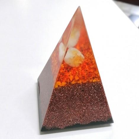Orgonit, piramida, citrin, kristal razcveta, negativna stanja, samozavest, intuicija