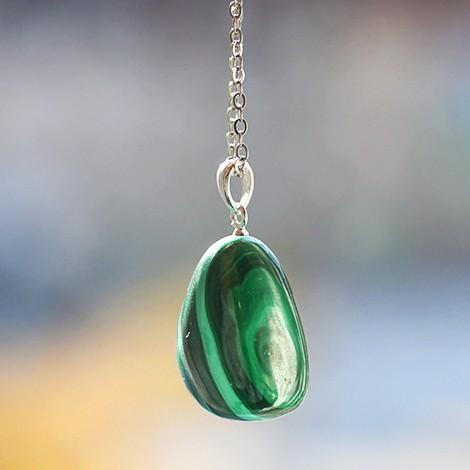 malachite crystal energy necklace pendant, crystal shop