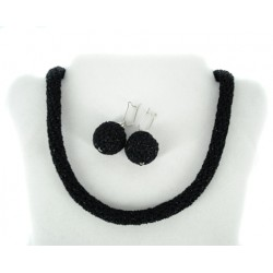 kvačkan nakit komplet uhani ogrlica