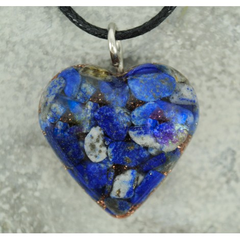 lapis lazuli ogrlica orgonit energijski nakit pomirja mir