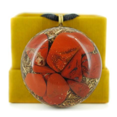 orgonit rdeči jaspis ogrlica