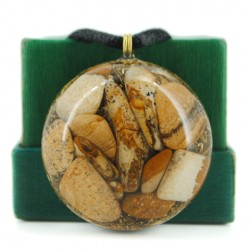 orgonit pokrajinski jaspis ogrlica