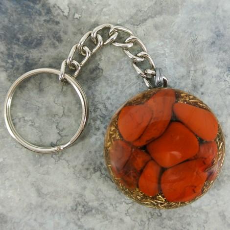 orgonit rdeči jaspis obesek kristal