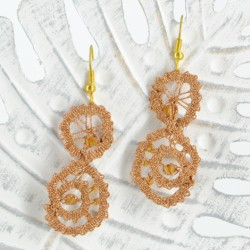 lace earrings swarovski crystals