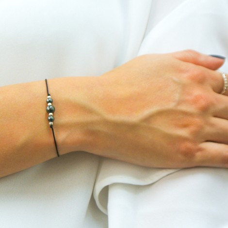 hematite bracelet, energy jewelry, concentration and calmness