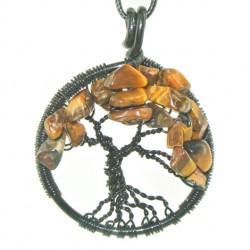 ogrlica energijski nakit kristal drevo življenja tigrovo oko zaščita koncentracija sreča
