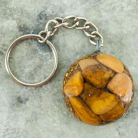 orgonit obesek za ključe, zaščita pred sevanjem, jaspis, trgovina s kristali
