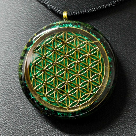 orgonite necklace