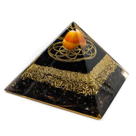 karneol, piramida, orgonit