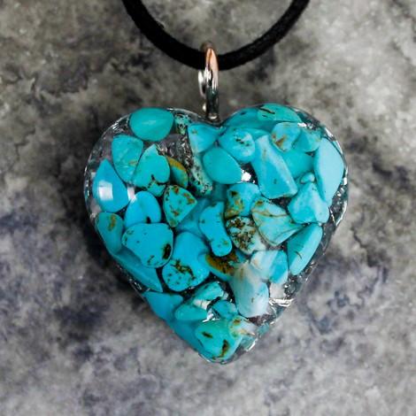 Turkiz, kristal, orgonit, ogrlica