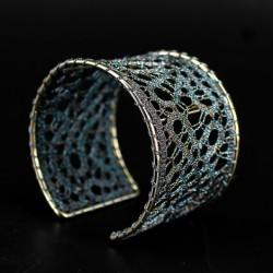 čipka, zapestnica, ročno delo, zapestnica iz klekljane čipke, nakit, klekljan nakit, klekljana čipka poroka